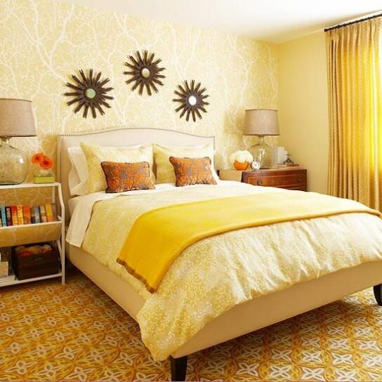 colori della camera da letto giallo