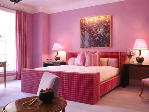 colori della camera da letto rosa