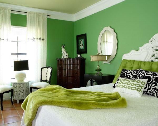 colori della camera da letto verde