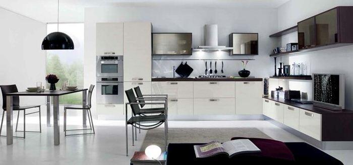 come arredare una cucina soggiorno